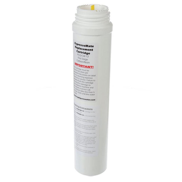 OptiPure PCQ-CW-12, 300-02651, Water Softener for Espresso, Replacement Cartridge