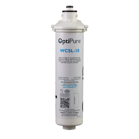 OptiPure WCSL-10, 300-05114CS, 10 inch Coffee Brewer Water Filter, Qwik-Twist, Lead