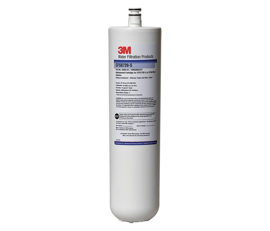 3M Cuno CFS8720-S, 56319-04, Water Filter Cartridge, Carbon Water Filter,  Scale Inhibitor