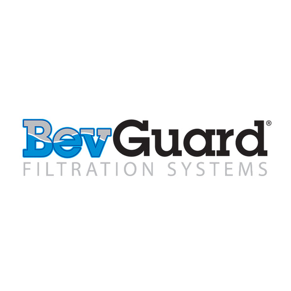 "BevGuard IN1011-1, 10 inch In-Line Coconut Carbon GAC Water Filter, 1/4""FPT"