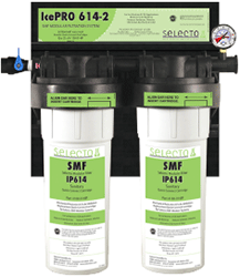 Selecto SMF IcePro614-2, 80-6200IP, Twin Hollow Carbon Filter System, Scale Inhibitor
