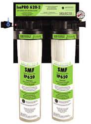 Selecto SMF IcePro620-2, 80-6202IP, Twin Hollow Carbon Filter System, Scale Inhibitor