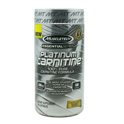 MuscleTech Essential Series 100% Platinum Carnitine