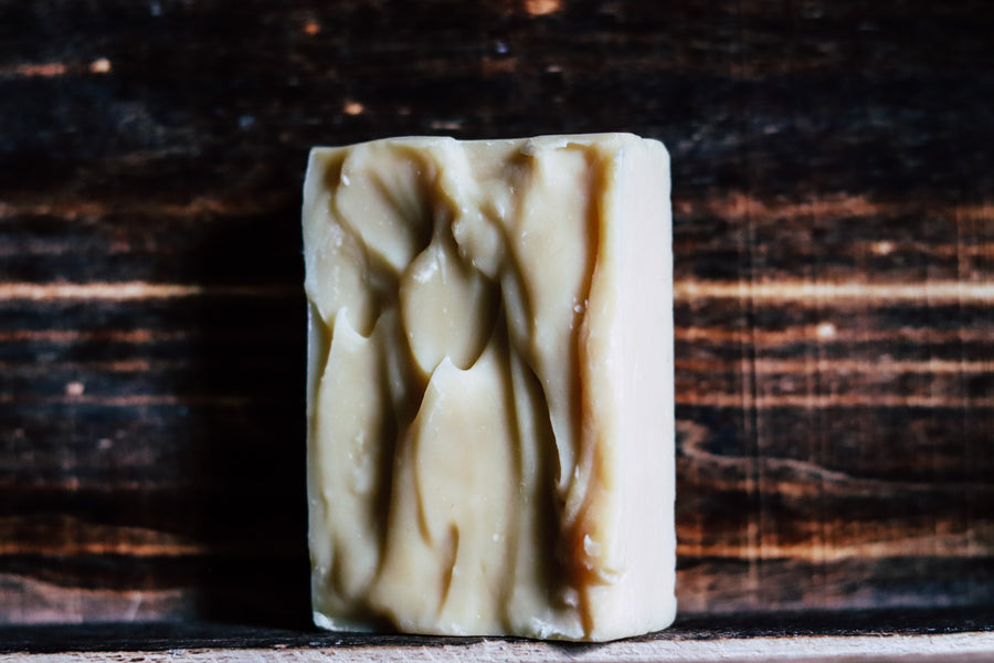 Beard Shampoo Bar: Green Tea and Peppermint.