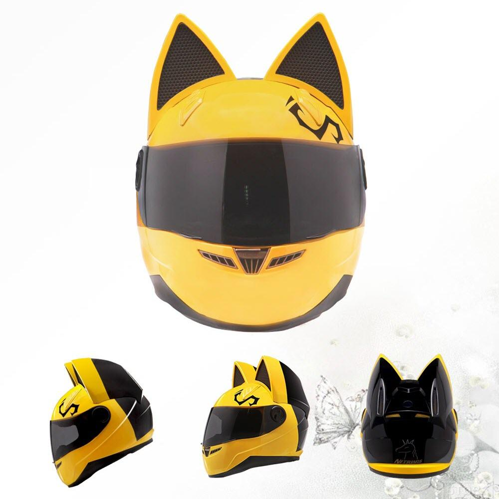 COOL FULL FACE MOTORCYCLE CAT HELMET