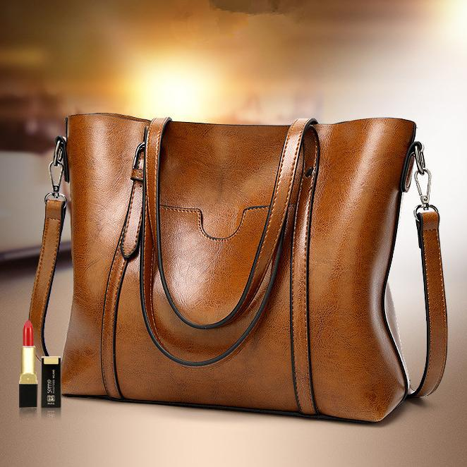 Classic Leather Tote Handbag