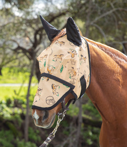 Southwest Fly Mask with Ears and Detachable Nose