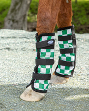 Racer Green Check  Fly Boots