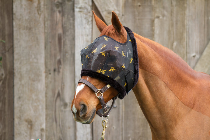 Bee Mine Fly Mask with Fleece Binding