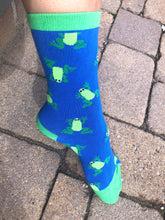BAMBOO CREW SOCK -FLYING FROGS