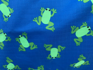 Flying Frogs Blue Frog Rain Sheet with Detachable hood