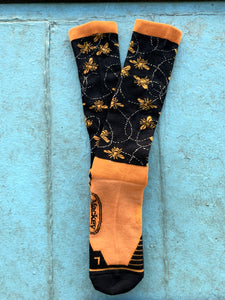 BAMBOO TALL SOCK -BEE MINE