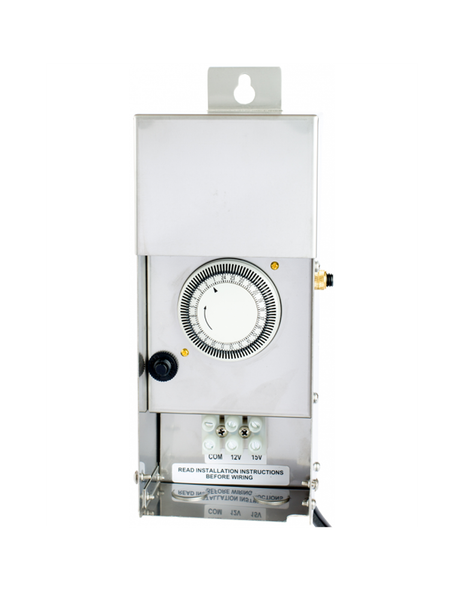 Professional Low Voltage Transformer Stainless Steel 300W Multi-Tap Photo Cell & Timer Build-In
