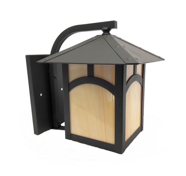 Martinique -Dome IX Solid Brass Craftsman Wall Lantern 12V Low Voltage Outdoor Lighting