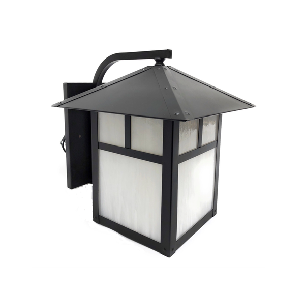 Martinique-Brique IX Solid Brass Craftsman Wall Lantern Outdoor Lighting