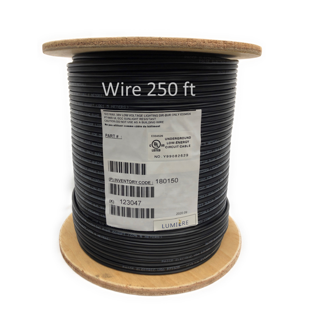 Low Voltage High Quality Copper Wire Cable Direct Burial Outdoor Landscape Lighting 250ft 14/2 AWG
