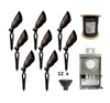 8 Pack Finesse LED Brass Spot Light Complete Combo Kit - Landscape Lighting