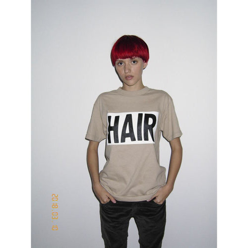 Beige HAIR Logo Shirt