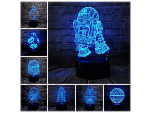 Star wars lampen lijn lamp van Amazings
