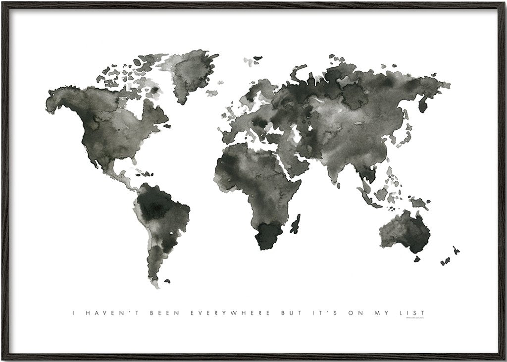 World map monochrome