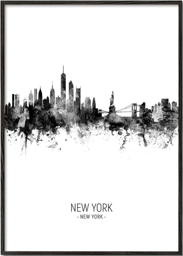 New York Skyline en blanco y negro