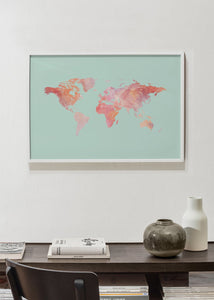Pink Marble Map