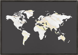 Marbel Gold World Map