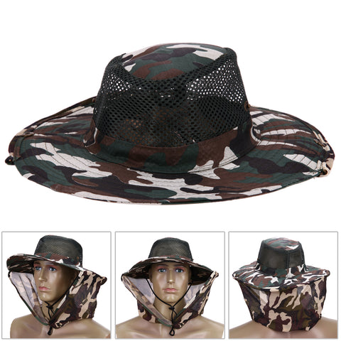 Sunscreen Men And Women Fishing Cap With Face Shield Outdoor Mosquito Bucket Hat Military Hats Fishing Caps Clothing Accessories