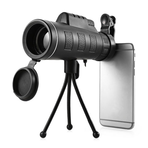 Outlife 40X60 Monocular Telescope HD Night Vision Prism Scope Portable with Phone Clip for Bird watching hunting