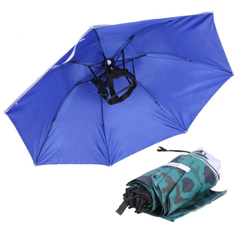 Universal Large Fishing Caps Head Umbrella Anti-UV Anti-Rain Outdoor Travel Fishing Umbrella Hat Portable Sports Pesca Cap