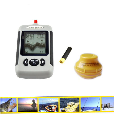 2.5'' Dot Matrix FSTN LCD 131 Feet Depth Wireless Sonar Fish Finder
