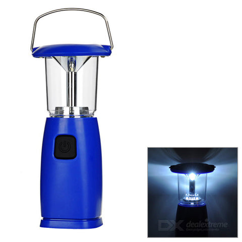 Solar Powered 6-LED 2-Mode Hand Crank Camping Lamp Lantern