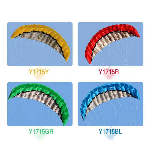 Outdoor Sports 2.5m Soft Dual Line Stunt Parafoil Kite Kit