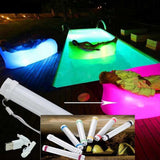 LED Light Camping Lamp Portable Inflatable Sofa Bed Lounger