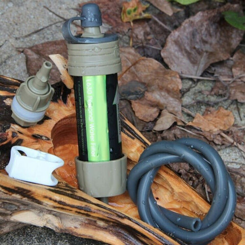 Mini Portable Emergency Personal Water Filter for Camping, Hiking, Hunting, Fishing Survival