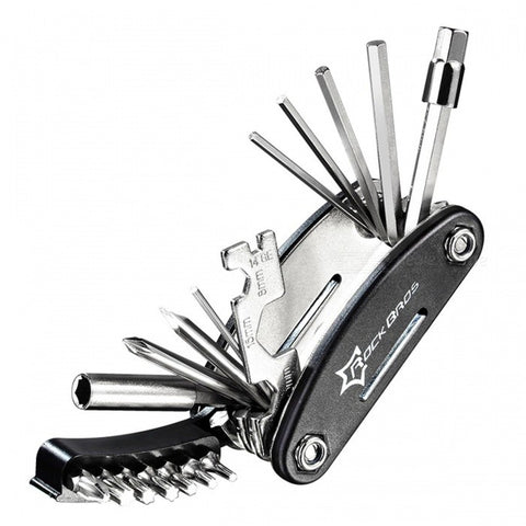 ROCKBROS 16-in-1 Bike Bicycle Tool Set Mountain Bike Multi Repair Tool Kit Hex Spoke Wrench Mountain Cycle Screwdriver Too