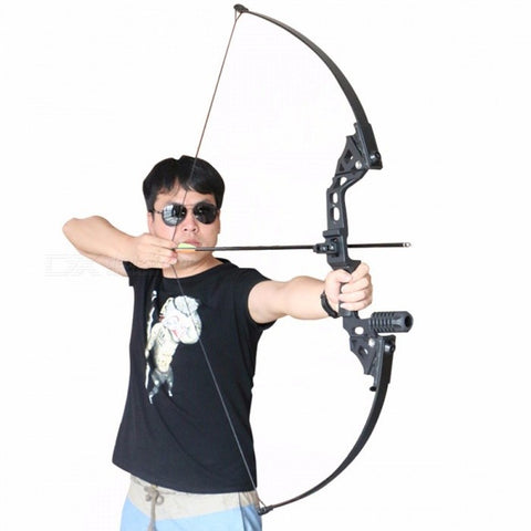 Archery Bow Hunting Straight Longbow for Outdoor Practice Target Shooting Fishing Sport Games Slingshot Tade Down Long Bow