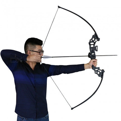 High Quality Fishing Bow Aluminum Recurve Long Bow Practice Straight Bow For Starter 40lbs Draw