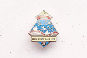 Alien Conspiracy Club Enamel Pin