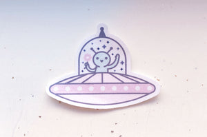 Friendly Alien Microfiber Sticker