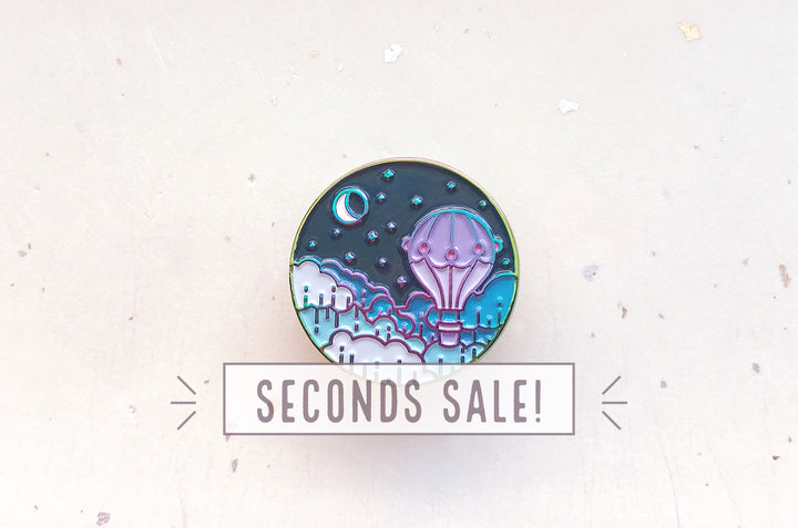 Balloon and Moon Pin (Seconds)