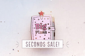 Big Plans Star Planner Enamel Pin (Seconds)