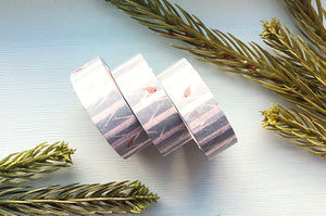 Birch Trees and Cardinals Washi Tape