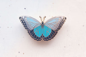 Blue Morpho Butterfly Enamel Pin