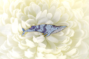 Nebula Blue Whale (Deep Sky) Pin