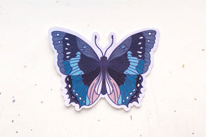 African Bluewing Butterfly Microfiber Sticker