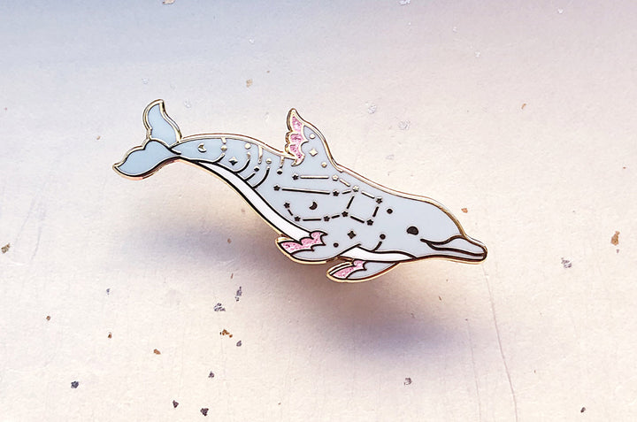 Pegasus Constellation Bottlenose Dolphin (An Echo in the Universe) Enamel Pin