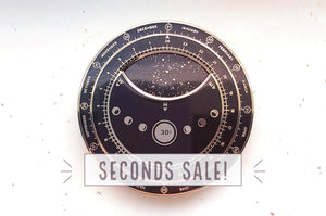 Planisphere Star Chart (Black and Gold) Enamel Pin (Seconds)