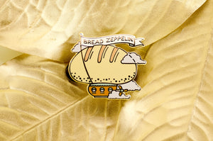 Bread Zeppelin Enamel Pin