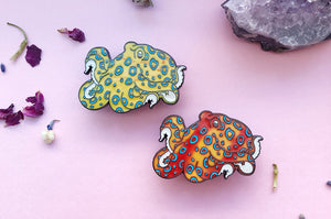 Blue Ringed Octopus Color Changing Enamel Pin